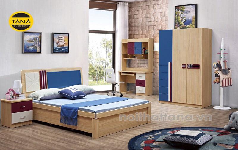 Bộ giường tủ cho bé trai giá rẻ, nhập khẩu đài loan