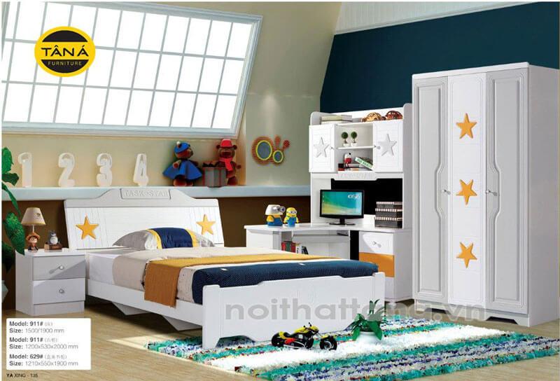 Bộ giường tủ trẻ em hiện đại giá rẻ