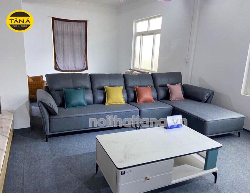 Ghế sofa vải bố góc L nhập khẩu malaysia