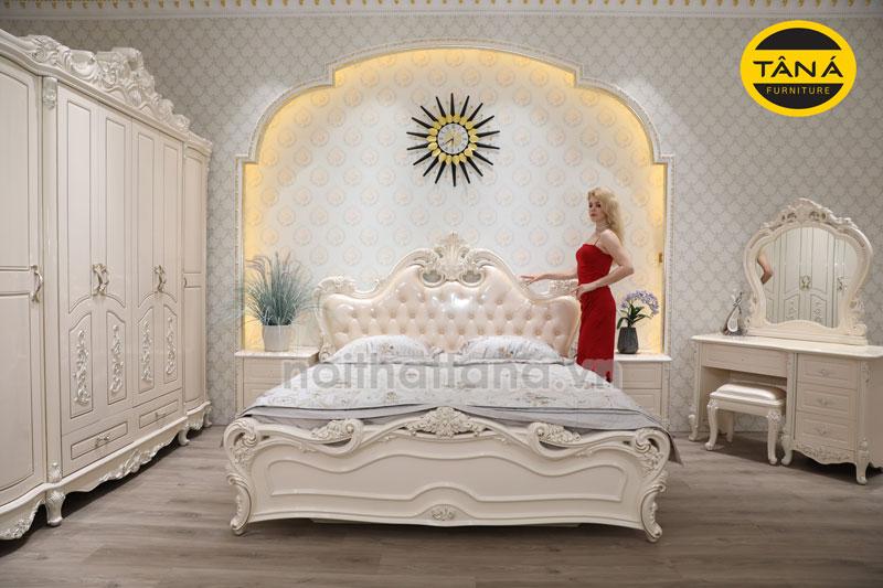 Trọn bộ giường tủ tân cổ điển giá rẻ tphcm