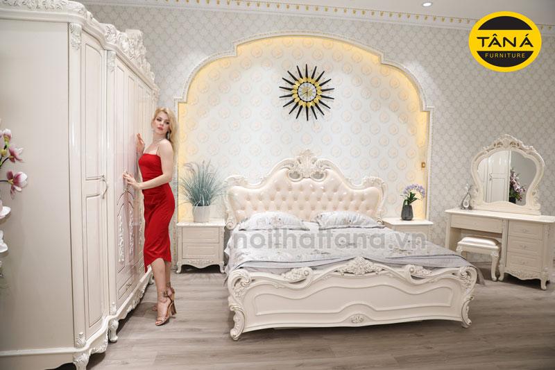 Bộ combo giường tủ, giường ngủ tân cổ điển giá rẻ tại bình phước