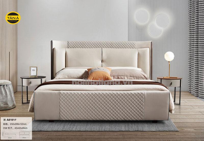 Mẫu giường ngủ bọc da cao cấp nhập khẩu đài loan