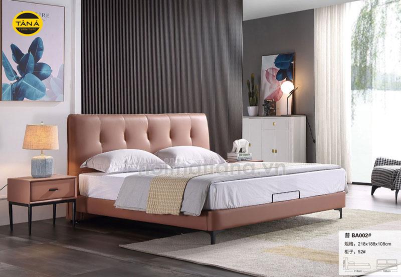 Mẫu giường ngủ bọc da giá rẻ tại TPHCM, giương ngủ hiện đại nhập khẩu đài loan