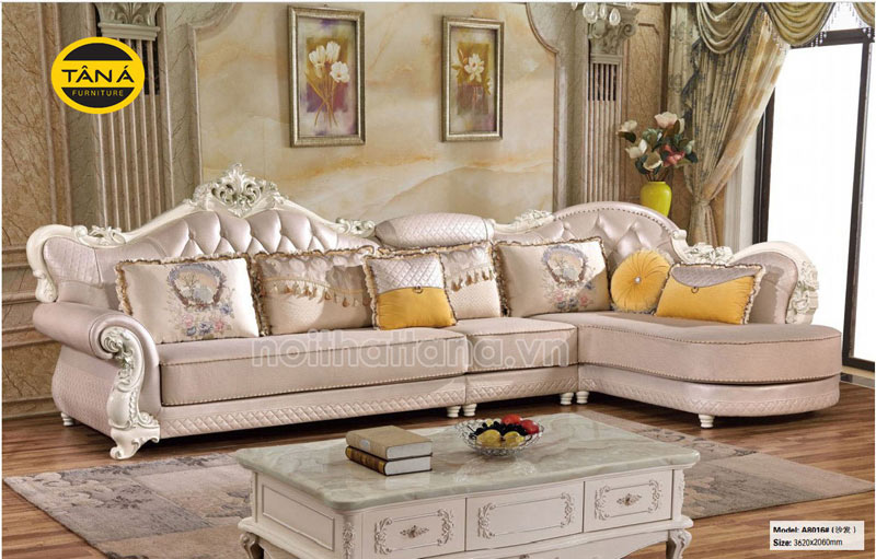 Ghế sofa tân cổ điển góc L đẹp nhập khẩu đài loan