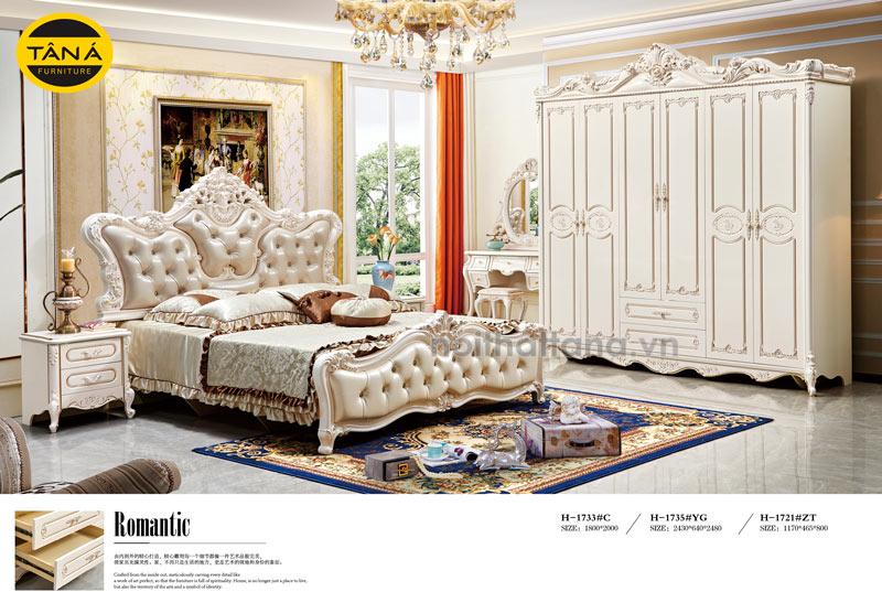bộ giường ngủ tân cổ điển cao cấp nhập khẩu đài loan