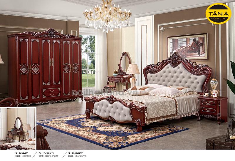 Bộ combo giường ngủ tân cổ điển giá rẻ quận 9
