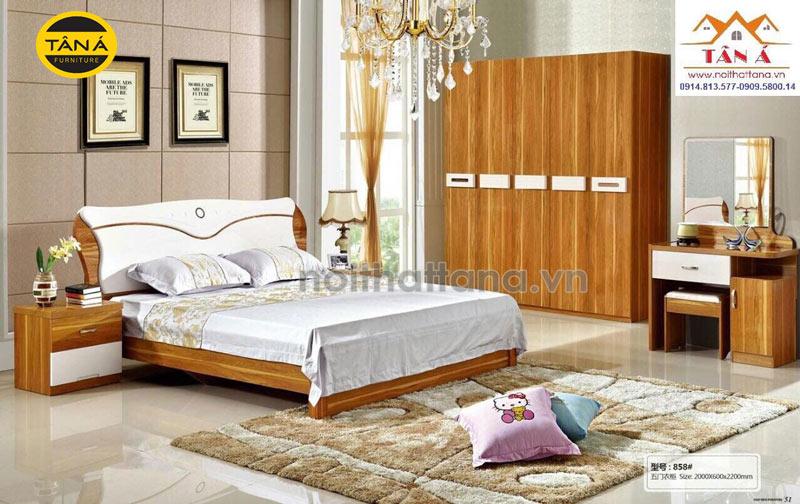 Mẫu combo giường ngủ đẹp hiện đại giá rẻ tphcm