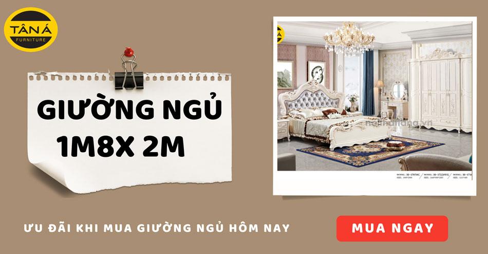 Mua giường ngủ 1m8x2m giá rẻ